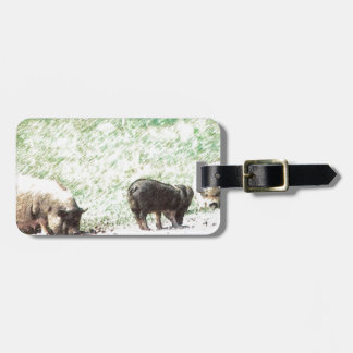 Little Wild Pigs Sketch Bag Tag