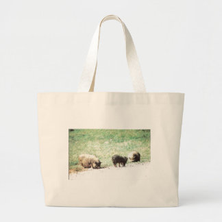 Little Wild Pigs Sketch Jumbo Tote Bag