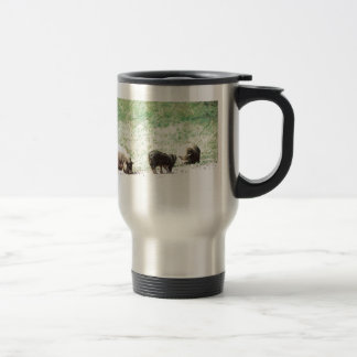 Little Wild Pigs Sketch Stainless Steel Travel Mug