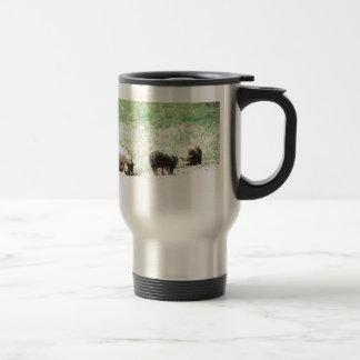 Little Wild Pigs Sketch Stainless Steel Travel Mug