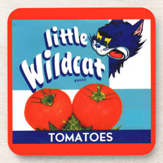 Little Wildcat tomatoes crate label Coaster