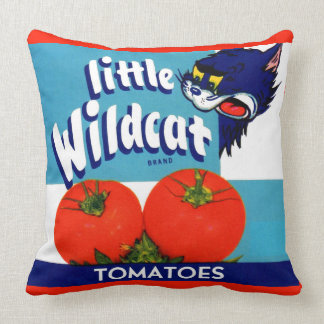 Little Wildcat tomatoes crate label Cushion