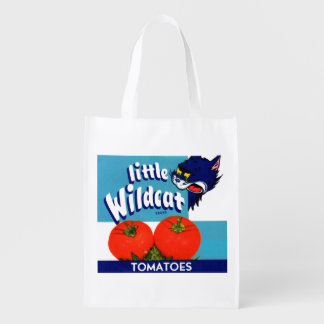 Little Wildcat tomatoes crate label Reusable Grocery Bag