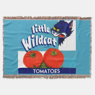 Little Wildcat tomatoes crate label Throw Blanket