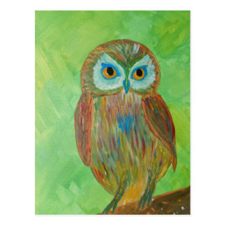 Little Wise Owl Postcard
