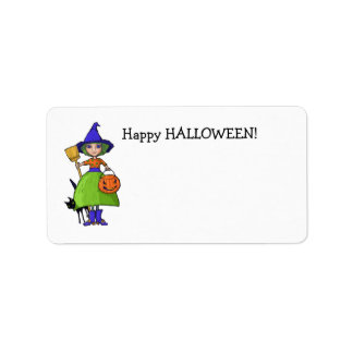 Little Witch Gift Tag Address Label
