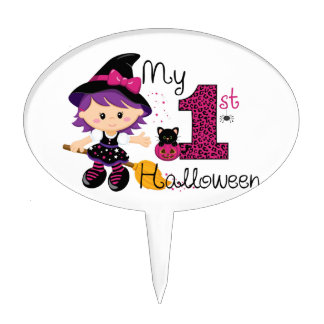 Little Witch My 1st Halloween Cake Picks
