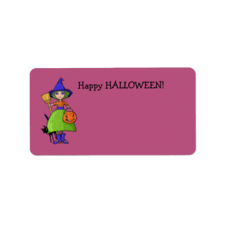 Little Witch plum Gift Tag Address Label