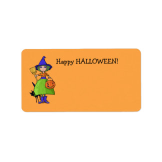 Little Witch pumpkin Gift Tag Address Label
