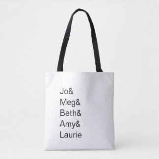 Little Women Character Names Tote