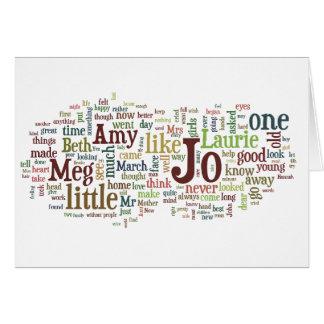 Little Women - Louisa May Alcott book words card