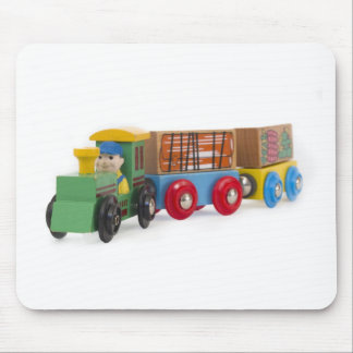 little wooden train mouse pad