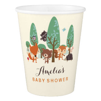 Little Woodland Friends Baby Shower paper cups
