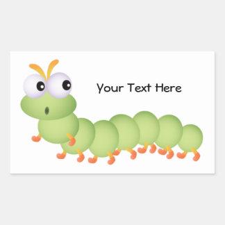 Little Worm (personalized) Rectangular Sticker