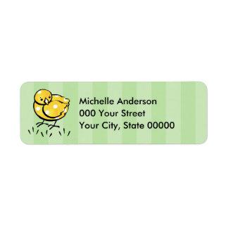 Little Yellow Chick Return Address Label
