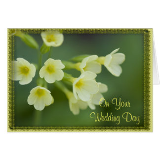Little Yellow Flowers Blended Family Wedding Card Greeting Card
