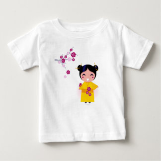 Little yellow Geisha on white Baby T-Shirt