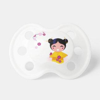 Little yellow Geisha on white Dummy
