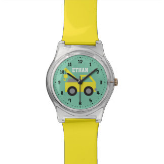 Little Yellow Tow Truck Boys Personalized Watch