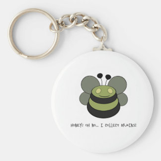 Little Zombee Basic Round Button Key Ring