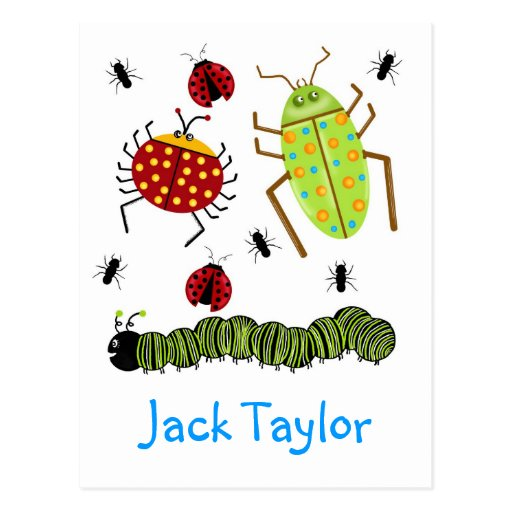 Littlebeane Bugs Insects  Ladybug Ant Caterpillar Postcards