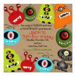 LittleBeane Monsters Invitation