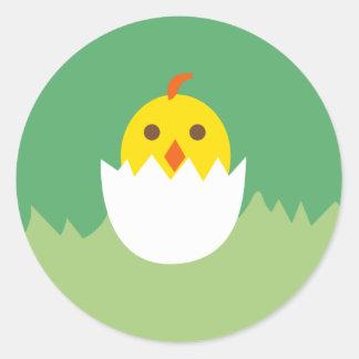 LittleChicken12 Round Sticker