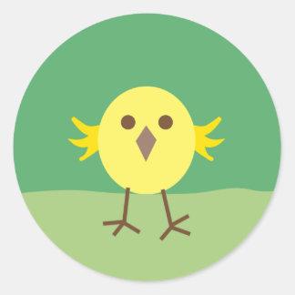 LittleChicken8 Round Sticker