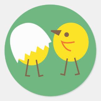 LittleChicken9 Round Sticker