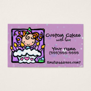 Cake decorating business cards business card printing zazzle littlegirlie cake decorating custom card colourmoves