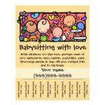 LittleGirlie Child care custom tear-sheet_Gold Flyer Design