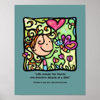 LittleGirlie loves her Butterfly.CUSTOMTeal print