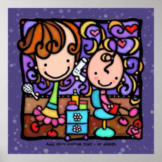 LittleGirlie loves her Hair Salon Dk PPL Poster