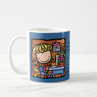 LittleGirlie loves to blog on her computer Coffee Mug