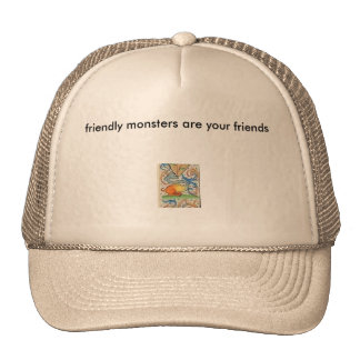 littlemonster, friendly monsters are your friends hat