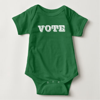 Littlest Voter kelly green baby bodysuit