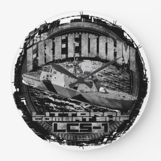 Littoral combat ship Freedom Acrylic Wall Clock