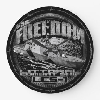 Littoral combat ship Freedom Acrylic Wall Clock