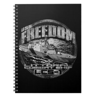 Littoral combat ship Freedom Spiral Photo Notebook