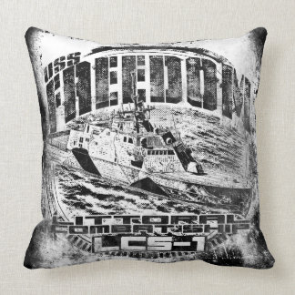 Littoral combat ship Freedom Throw Pillow