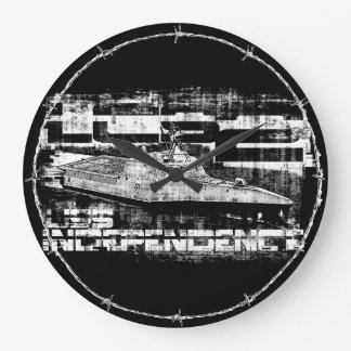 Littoral combat ship Independence Acrylic Wall Cl Large Clock