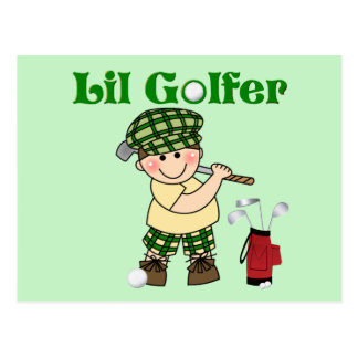 Litttle Golfer Postcard