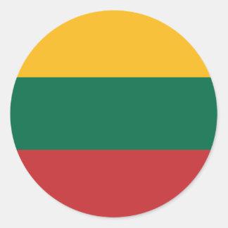 Lituania Classic Round Sticker