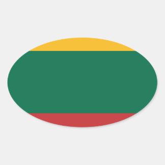 Lituania Oval Sticker