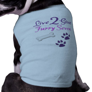 Live2Give Doggie Ribbed Tank Top Sleeveless Dog Shirt