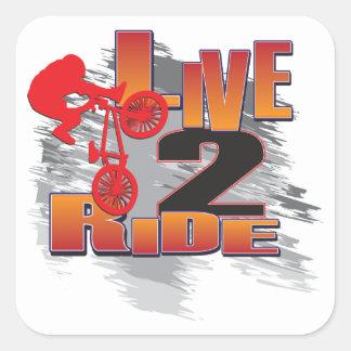 LIVE-2-RIDE-BMX SQUARE STICKER