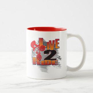 LIVE-2-RIDE-BMX Two-Tone COFFEE MUG