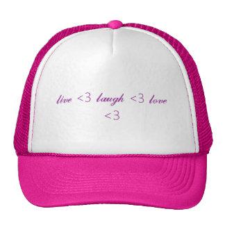 live 3 laugh 3 love 3 hats