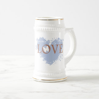 Live a life of LOVE Beer Stein