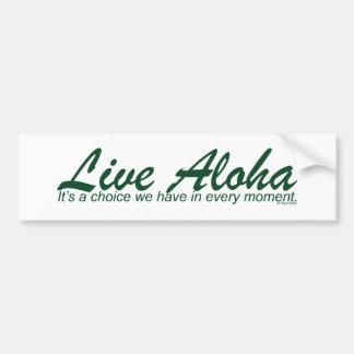 Live Aloha Design Items by Paul Klink Bumper Sticker